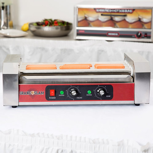 12 Hot Dog Roller Grill with 5 Rollers - 110V, 750W