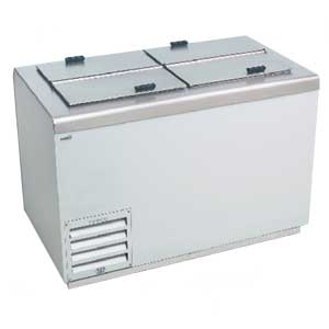 Stainless Steel Ice Cream Dipping Cabinet Freezer - 17.2 Cu.ft