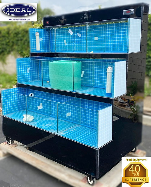 3 tier seafood tanks - crab - lobster - mussels -oysters etc. 9 compartments