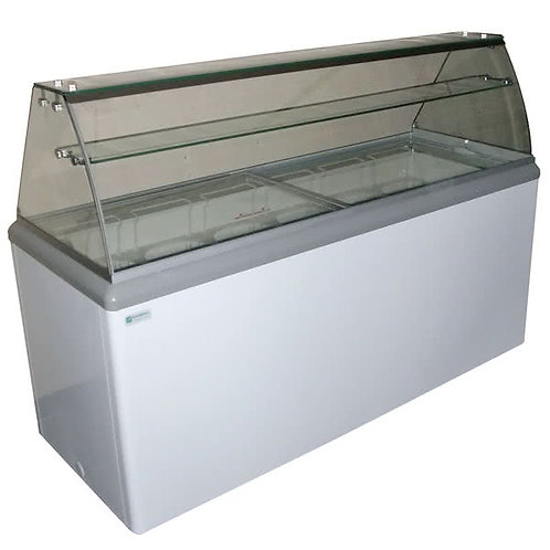 12  TUB ICE CREAM DIPPING CABINET - CURVED GLASS