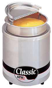 APW WYOTT ROUND 7 Qt. COUNTERTOP WARMER WITH INSET 120V