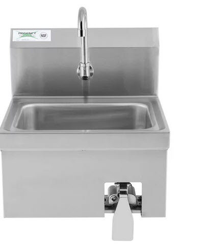 """7"""" x 15"""" Hands Free Hand Sink with Knee Operated Valve"""
