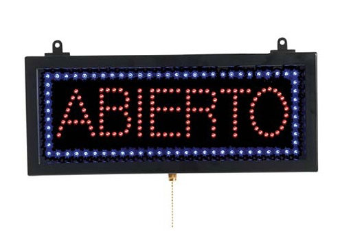 Abierto Open LED Sign