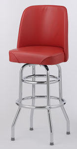 BAR STOOL  - 6 COLOR CHOICE  - BUCKET SEAT DOUBLE RING
