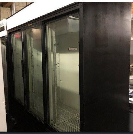 True 3 door glass display refrigerator