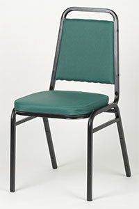 STACKING CHAIR  -SQUARE BACK  - AVAILABLE IN 4 COLORS