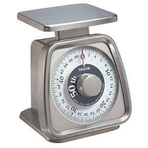 TAYLOR 50 LB. ANALOG PORTION CONTROL SCALE