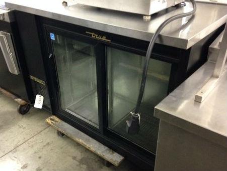 "True Back bar  - 48"" glass doors"