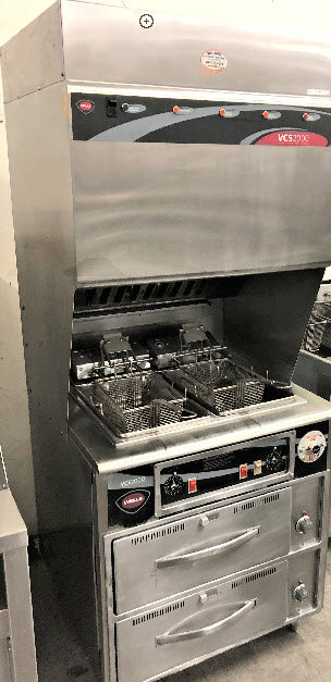 Wells ventless deep fryers with warming cabinets