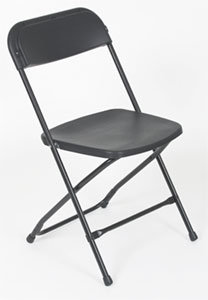 FOLDING CHAIRS - BLACK & WHITE