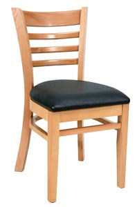 HARDWOOD CHAIR  - LIGHT NATURAL  - UPHOLSTERED - FOUR COLORS AVAILABL