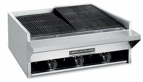 American Range Heavy Duty 24 inch Lava Rock Gas Charbroiler