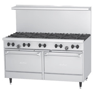 Garland X60-10RR SunFire 10 Burner Gas Range with Two Standard Ovens