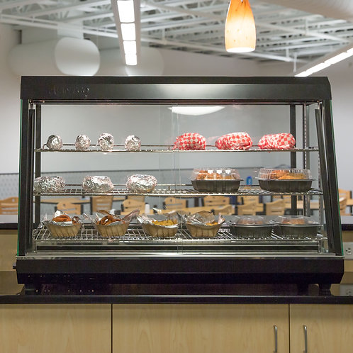 "48"" Self Service 3 Shelf Countertop Heated Display Warmer"
