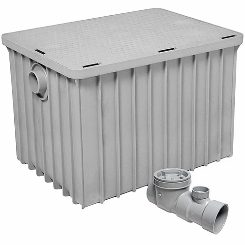 """100 LB - 50 G.P.M. Grease trap with 3"""" hub -"""