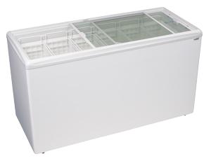 Ice Cream Flat Top Flat Lid Display Freezer - 15.6 Cu.ft