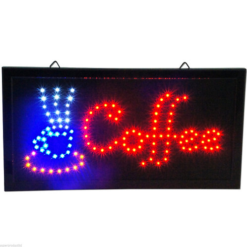 LED cafe COFFEE shop Sign espresso cappuccino Open Store bar neon On Off Switch