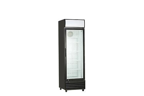 """22.7"""" single glass door upright display cooler"""