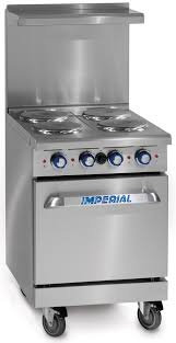 IMPERIAL ELECTRIC 4 BURNER RANGE WITH OVEN - VIDEO