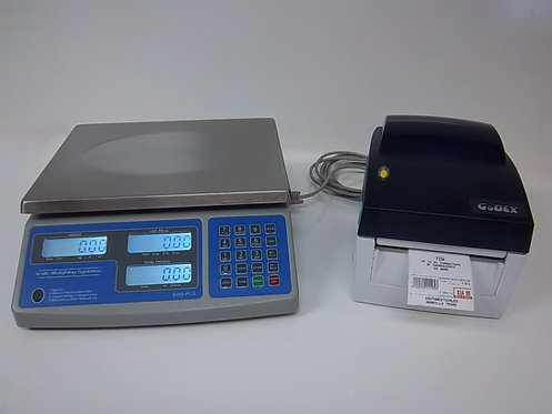60 lb Price Computing Scale-lbs,kgs,oz Barcode Printer Thermal Label