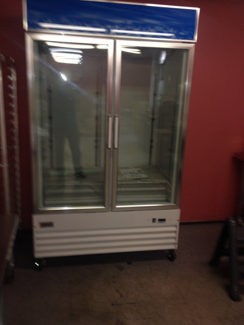 TWO DOOR GLASS FRONT DISPLAY FREEZER