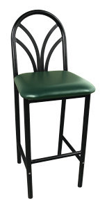 CAFE ROUND BACK  BAR HEIGHT CHAIR