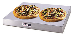 "IDEAL  Rotating HUMIDIFIED 4-Shelf Glass 18"" Pizza Warmer"