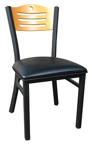 BISTRO DINING CHAIR - PADDED SEAT