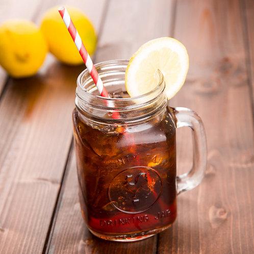 16 oz. County Fair Mason Jar / Drinking Jar with Handle - 12 / Case