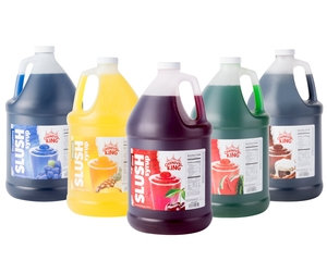 SLUSH SYRUP 4 1 GALLON CONTAINER PER CASE - 16 FLAVORS TO CHOOSE FROM