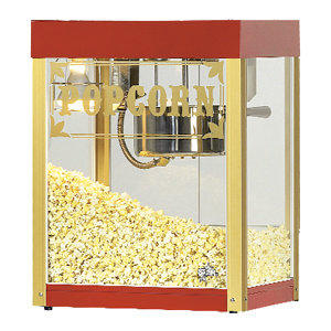 STAR 6 OZ. POPCORN POPPER WITH ANTIQUE RED FINISH
