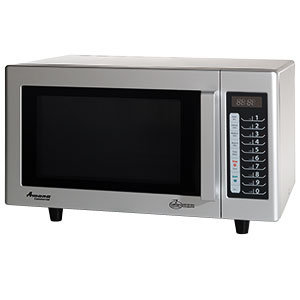 AMANA 1000 WATT COMMERCIAL MICROWAVE WITH PUSH BUTTON CONTROLS - 120V