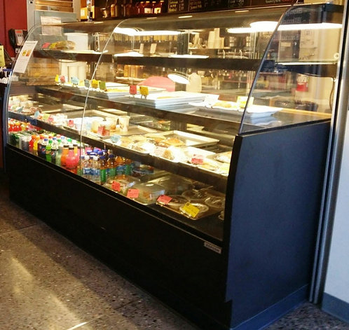 Refrigerated showcase  - curved glass