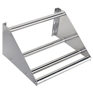 "22"" Wall Mounted Tubular Rack Shelf - glass or dishwasher trays"