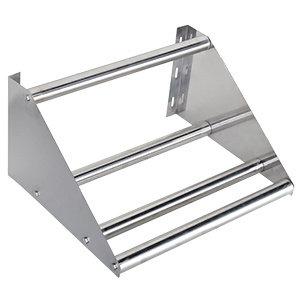 "22"" Wall Mounted Tubular Rack Shelf - glass or dishwasher trays"