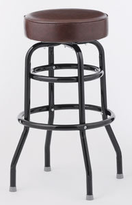 BAR STOOL  - 6 COLOR CHOICE  - STANDARD SEAT DOUBLE RING  BLACK FRAME