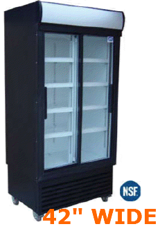 "DOUBLE GLASS DOOR COOLER  42"" WIDE"