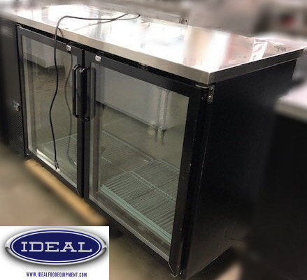 "60"" GLASS DOOR BACK BAR"