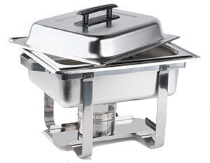 4 QT. ECONOMY CHAFER STAINLESS HALF SIZE CHAFIN DISH