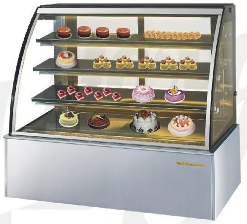 """72"""" WIDE CURVED GLASS BAKERY CASE - REFRIGERATED"""