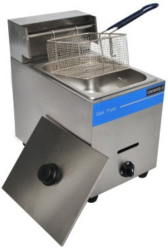 Sinlge well propane deep fryer - counter top