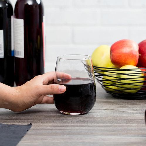 17 oz. Stemless Wine Glass - 12/Case