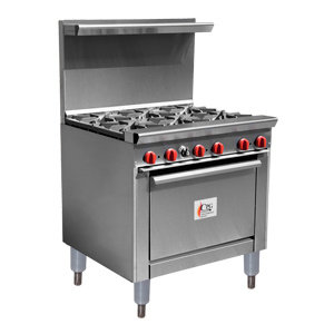 "6 BURNER GAS RANGE WITH 26 1/2"" STANDARD OVEN"