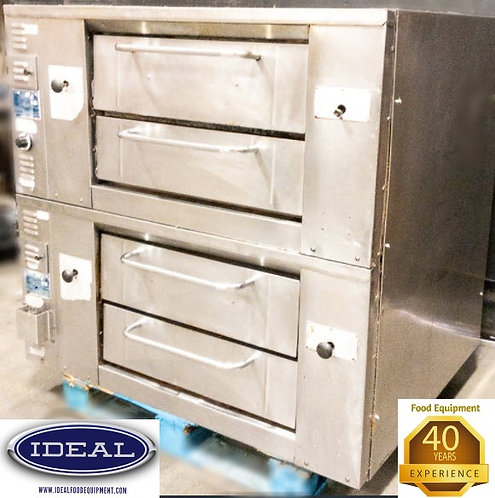 Bakers Pride Gas double stack pizza ovens