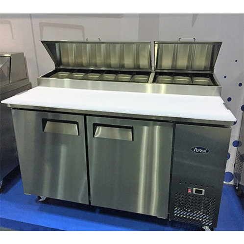 """67"""" 2 Two Door Refrigerated Pizza Prep Table"""