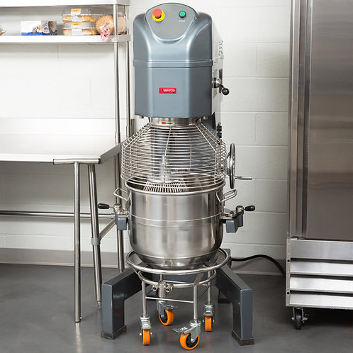60 Qt. Gear Driven Commercial Planetary Floor Mixer with Stainless Steel Bowl Gu