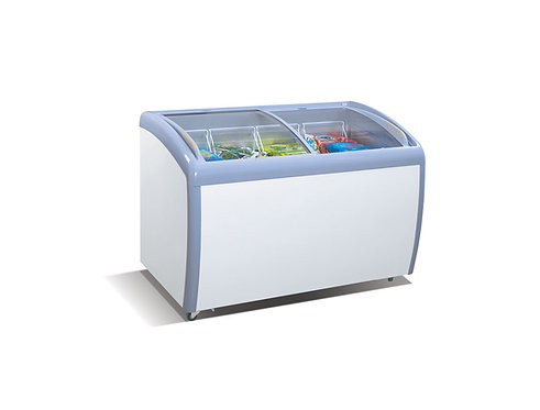 MMF-9112 Angle Curved Top Chest Freezer (Glass Arc Lid)