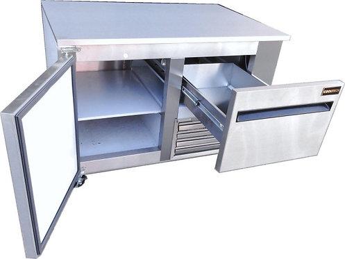 """1-Door With 1-Drawer Worktop Refrigerator Low Boy Cooler 48""""W"""