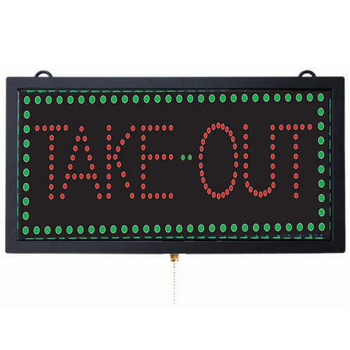 """TAKE OUT' LED SIGN"