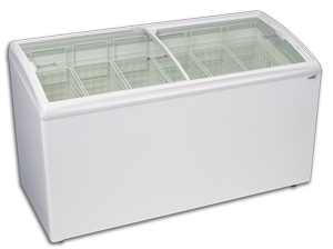Curved Lid Display Freezer